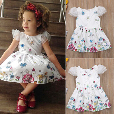 Toddler Kids Baby Girls Floral Party Wedding Pageant Princess Dress Sundress New