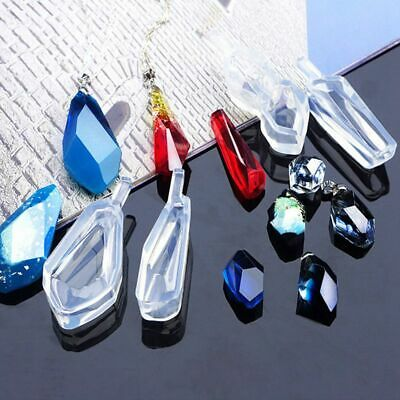 4 Pieces Assorted Shape Cabochon Silicone Earring Necklace Pendant Mold for M1D8