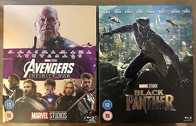 Avengers Infinity War And Black Panther Blu-ray Like New