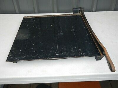 """Antique Cast Iron Eastman Number 20 Paper Cutter 20 X 21"""" Guillotine"""