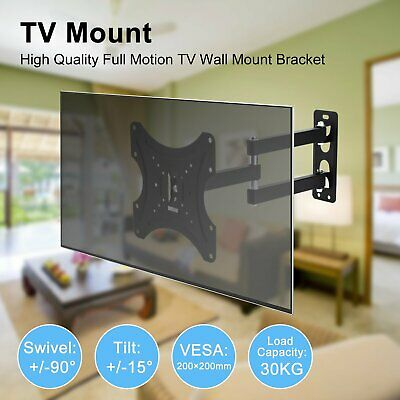 "TV Wall Mount Swivel Tilt Bracket 17"" to 37"" 3D 4K LED LCD VESA 200x200mm"