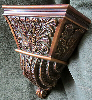 Sculptural Corner Style Wall Mount Sconce / Shelf Decorative Corbel