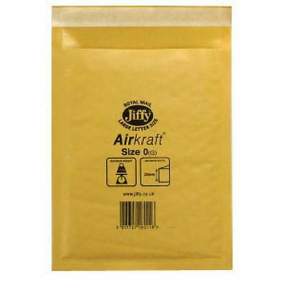 Jiffy AirKraft Mailer Size 0 140x195mm Gold (Pack of 10) mmUL04602 [JF79531]