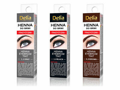 DELIA EYEBROW HENNA Traditional Tint Kit Set Brown Black ...