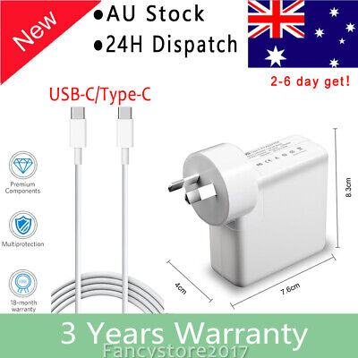 "45W USB-C AC Charger for Apple 13"" A1708 A1706 MacBook Pro Thunderbolt 3 Type C"
