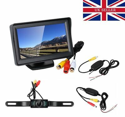 4.3″ LCD Rear View Monitor+120° IR Night Vision Camera Car Reversing Parking Kit