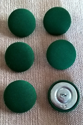 Acrylic 30L//20mm Dusky Blue Upholstery Fabric Covered Buttons Craft Sewing