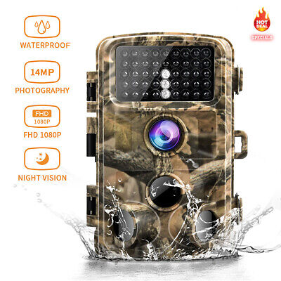 Campark Camera Trail Game Moultrie Cam Iinfrared Hunting 14MP 1080P Scouting Cam