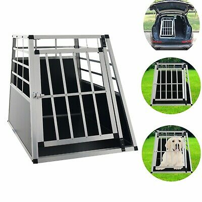 ALU Hundebox Hunde Transportbox Autotransportbox Alubox Gitterbox Reisebox Box L