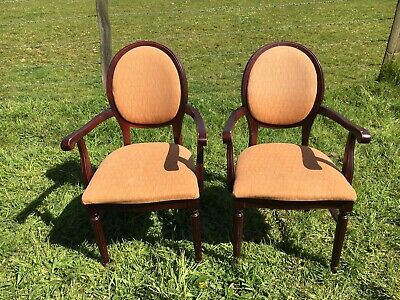 Pair of Upholstered Balloon Back Cafe Chairs (Bar / Restaurant / Pub Chairs)