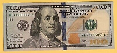 $100 Dollar Bill Note USA New Mint 100 Gift Founding Father Ben jamin Franklin
