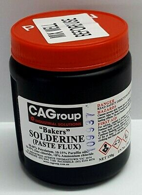 Consolidated Alloys BAKERS SOLDERINE SOLDER PASTE Flux 150g Zinc Chloride
