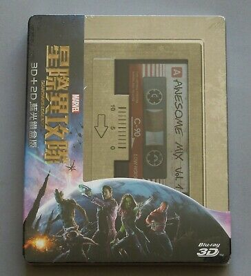 Guardians Of The Galaxy - Taiwan 3D+2D Blu-Ray Steelbook * New - Avengers Thor