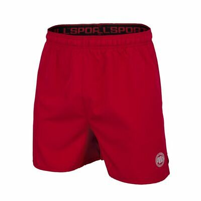 PIT BULL WEST Coast Performance Shorts Black Neon Red