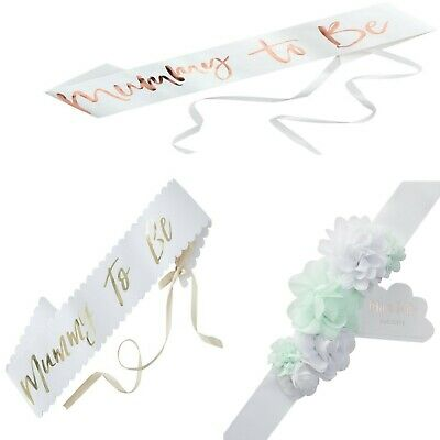 Baby Shower Mum To Be Sashes - Lovely Baby Shower Gift
