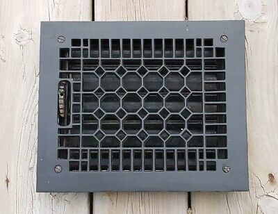 Vtg Metal Heat Air Register Wall Floor Iron Grate Vent Cover 8 x 10 Old Hardware