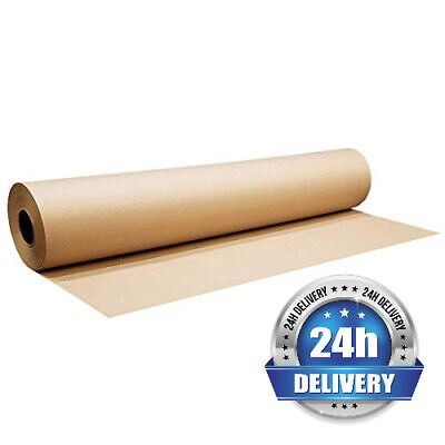 Heavy Duty Kraft Paper Roll 900mm x 200M Brown Wrapping Packing Packaging 90GSM