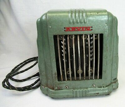 Art Deco Arvin Space Heater vintage green metal antique 1940s works