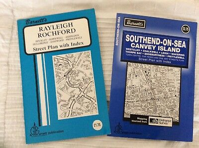 Barnettes Road Maps Southend/ Canvey Island & Rayleigh/ Rochrord