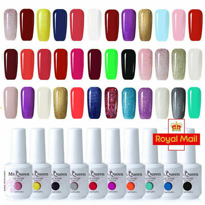 MS.QUEEN Neon Summer Bright Set Gel Nail Polish Top Base Varnish Lacquer