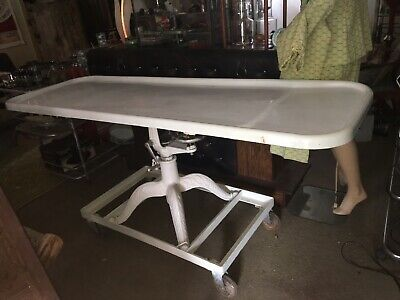 Embalming Table Porcelain Cast Iron Antique Funeral Mortuary Medicine Science