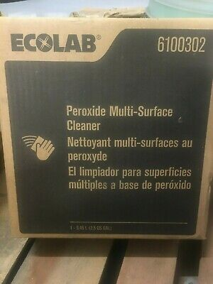 Ecolab 6100302 Peroxide Multi-surface Cleaner EXP 09/2021