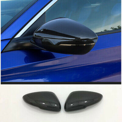 2Pcs Carbon Fiber Rearview Side Mirror Trim Cover for Honda Accord 2018 2019