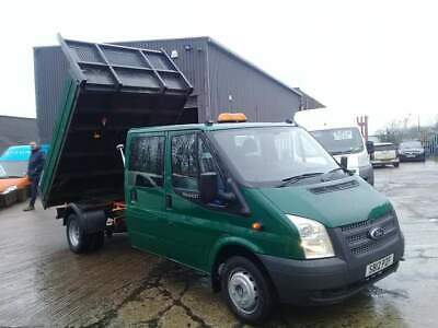 2012 Ford Transit 2.2 Tdci 6 Speed 100 T350 Double / Crew Cab Tipper 1 Owner.