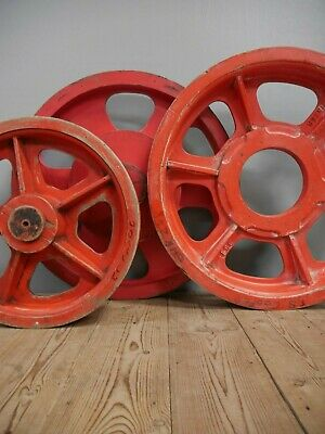 Group Of Large Original Vintage Industrial Wooden Foundry Moulds Forms Wheels