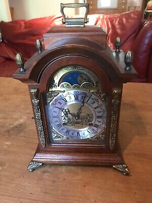 Franz Hermle Clock- Fhs-Double Tone Ding Mantel / Germany - Working