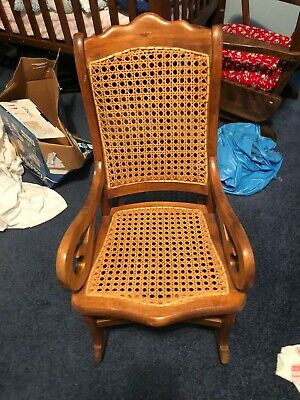 Vintage childs wicker rocking chair