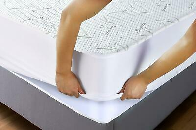 Waterproof Bamboo Mattress Protector Soft Hypoallergenic Fitted Cover Pad Queen