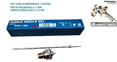 SET UGELLO MATERIALE + ASTINA ANEST IWATA PER W400 - ø 1,3 MM NOOZLE NEEDLE SET