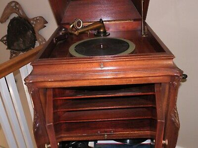 VINTAGE RCA  VICTOR CONSOLE VICTROLA RECORD PLAYER 1912 MADE IN Camden, USA