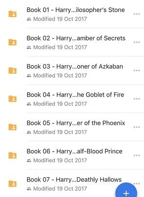 Harry Potter Audio Books 1-7 Read By Stephen Fry mp3s