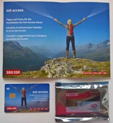 Srg Ssr Smart Card V 6.0 Sat Access Swiss Tv Active Unlimited - Cam Not Included