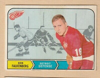 Hockey Card 1968 Bob Falkenberg Detroit Red Wings  Nice Card  Opc #141
