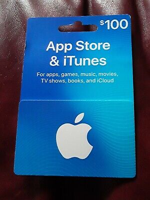 New $100 Apple iTunes Gift Card Never Redeemed