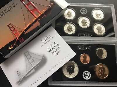 2018-S  SILVER Reverse PROOF Set - 50th Anniversary - Beautiful!