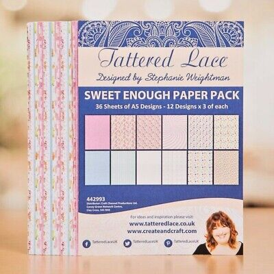BNIP Tattered Lace Through the Window Paper Pack New /& Sealed