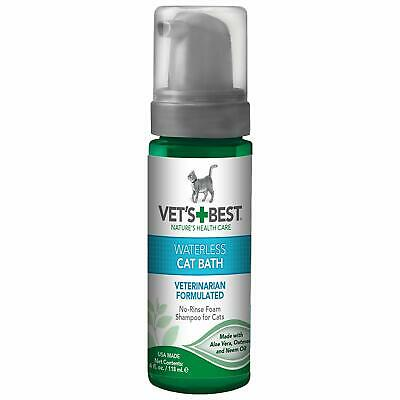 Vet's Best No-Rinse Clean Waterless Cat Shampoo. Natural Formula, 4 oz