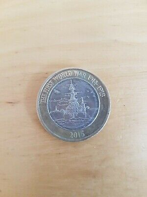 Royal Navy £2 Circulated WW1 'HMS BELFAST' 2015 Two Pound Coin First World War