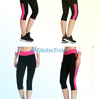 514ae944486 NEONYSWEETS WOMENS CAPRIS Exercise Gym Running Yoga Pants Phone Pockets  X-Large