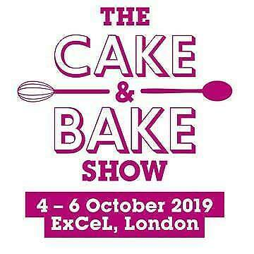 2 Tickets Cake And Bake Show  London Excel Saturday 5Th October 2019
