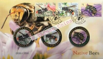 PNC Australia 2019 Native Bees 3 Medallion Coloured Limited Edition 2500