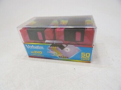 "NEW Sealed Verbatim 94590 50 Pack DataLife Color 2HD IBM Formatted 3.5"" Floppies"