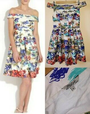 037715278e33 Kelly Brook New Look Bardot Scenic Dress Size 14 Excellent Condition