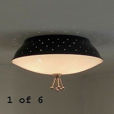 462b 50s 60's Vintage Ceiling Light Lamp Fixture atomic mid-century eames
