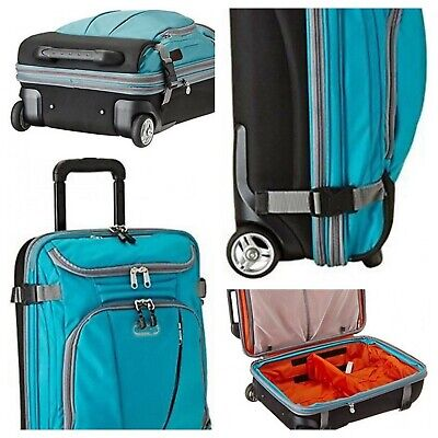 """eBags Mother Lode TLS Mini 21"""" Rolling Carry On Luggage Turquoise"""