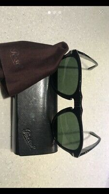 1d4a0b52a331c Persol 649 Aviator Sunglasses 95 58 Black   Grey Green Polarized PO0649 54  mm